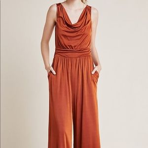 NWT MAEVE ANTHROPOLOGIE Jumpsuit in Copper SZ XS